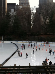 Ice-skating on a 70-degree day