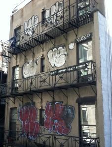 Graffiti along the High Line