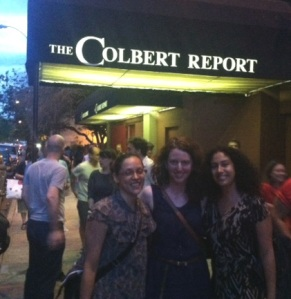 "Maggie, me and Navani at ""The Report"""