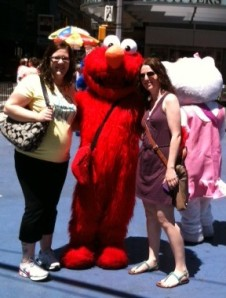 Sarah, Baby Boy, Elmo & me