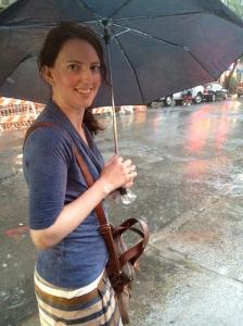 A wet walk home