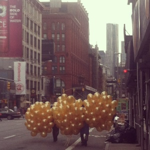 Life is giant balloon bouquet.