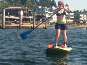It's nice to have a SUP buddy, but I'll go by myself, too.