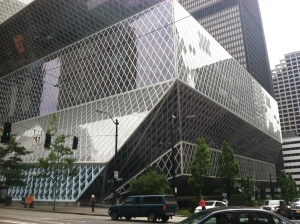 Seattle Central Library is modern inside & out.