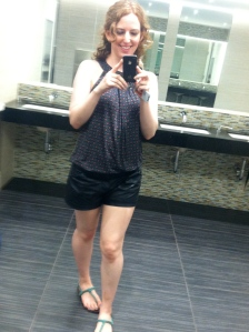 I feel like my legs are stronger and fitter than ever. (My friend needed proof I wasn't dressed like a slob).