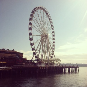 I made it to the top ... of Seattle's Great Wheel.
