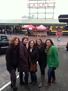Started in Seattle. Janice, Lora, Tara, Betsy and I had brunch at Pike Place.