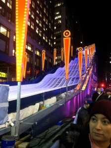 Giant slide in Times Square = Awesomeness!
