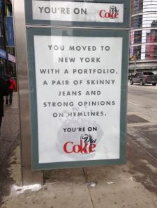Diet Coke ad by my office.