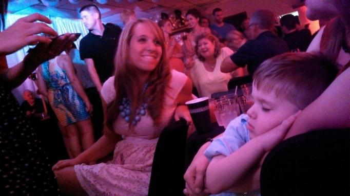 Sleepy Adam and his admirers.
