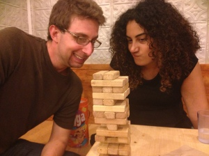 Jenga tournaments are serious business.